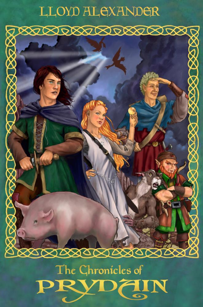 Chronicles of Prydain cover art by Dawn Davidson